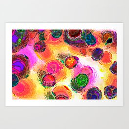 Color Dabs Art Print