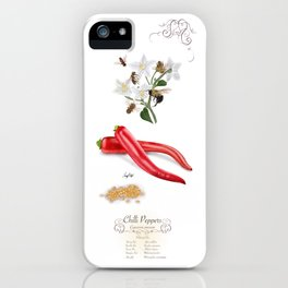 Chilli Peppers and Pollinators iPhone Case