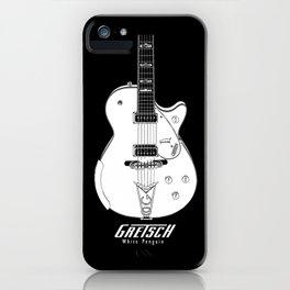 Gretsch White Penguin-Electric Guitar-Music-Rock,Blues,Jaazz,Rockabilly iPhone Case