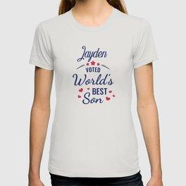 Jayden voted World's Best Son Jayden  gift T-shirt