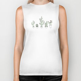 Cacti Collection Colored Biker Tank