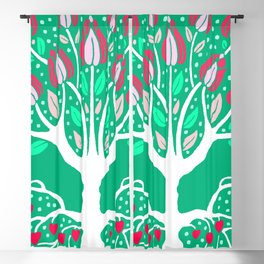 Love Grows Forever - Emerald Green Blackout Curtain