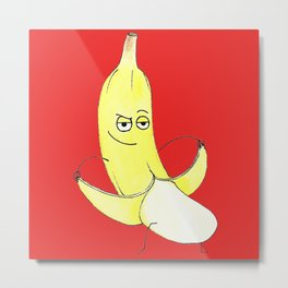 Inappropriate Banana Metal Print