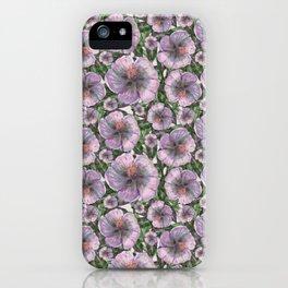 Marsh-Mallow flower pattern iPhone Case