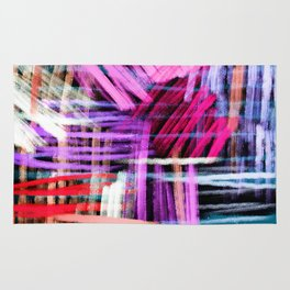 oil pastels abstract pattern Rug