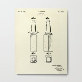 Beer Bottle-1934 Metal Print