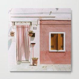 Sunny pink house Metal Print