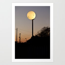 Real Moon Art Print
