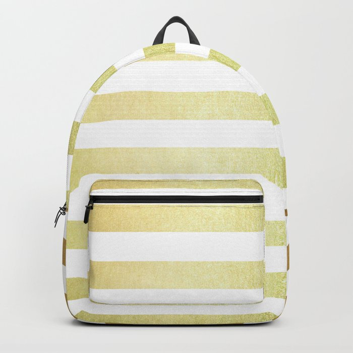 Simply Striped 24K Gold Backpack