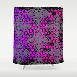 Neon Dots Shower Curtain