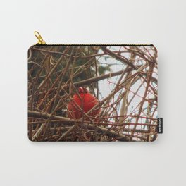 Chilly Cardinal Carry-All Pouch