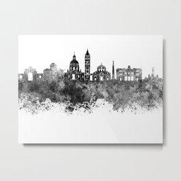 Messina skyline in black watercolor Metal Print