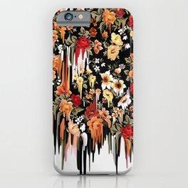 Free Falling, melting floral pattern iPhone Case