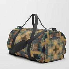 Plaid Pattern Abstract Print Duffle Bag
