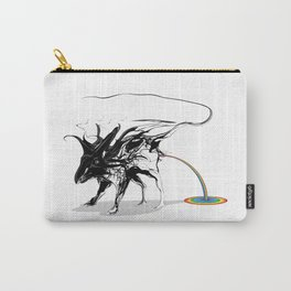 Rat and rainbow. Black on white background-(Red eyes series) Carry-All Pouch