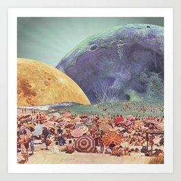 Lunar Beach Art Print