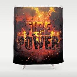 Fire Power Shower Curtain