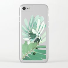 green plant leaves Clear iPhone Case