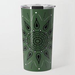 Central Mandala Jade Green Travel Mug