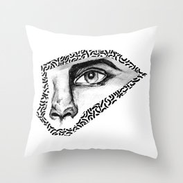 BLACK EYE PATTERN Throw Pillow