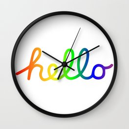 Oh Hello! Coloful Version Wall Clock