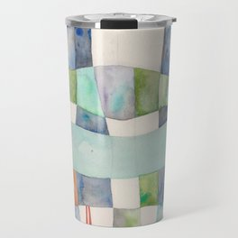 Tranquil Waters, Blue and Green Travel Mug