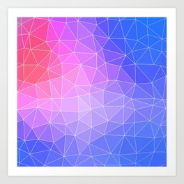 Abstract Colorful Flashy Geometric Triangulate Design Art Print