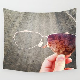 Retro Glasses Wall Tapestry