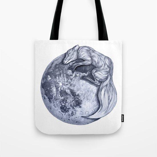 Blue Moon Fox Tote Bag