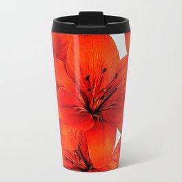 Red lilies Travel Mug