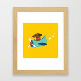 Airplane Dog Framed Art Print
