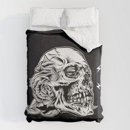 Skull Flower Art Print Comforters