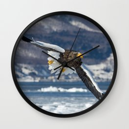 Stellar's Sea Eagle Flight Wall Clock