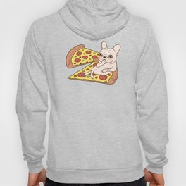 Cream Frenchie invites you to her Pepperoni pizza party Hoody