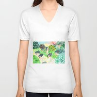 psychedelic V-neck T-shirts featuring Psychedelic by Risahhh