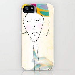 She was known for her interesting hats. iPhone Case