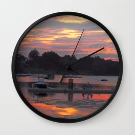 Sunset At The Cove Wall Clock