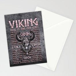 Viking Mythology Design Hail To The Old Gods Stationery Cards