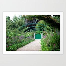Monet's Garden Gate  Art Print