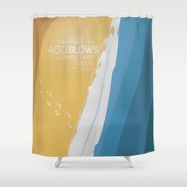 The 400 Blows, les Quatre cents coups, François Truffaut, minimalist movie poster, Jean-Pierre Léaud Shower Curtain