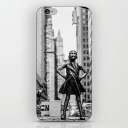Fearless Girl New York City iPhone Skin