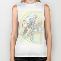 zodiac Biker Tanks featuring Zodiac - Aquarius by Hellobaby