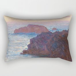 1886-Claude Monet-Rocks at Belle-lle, Port-Domois-65 x 81 Rectangular Pillow