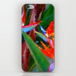 Bird of Paradise Family Abstract iPhone Skin