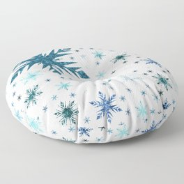 Frosty Abstract Floor Pillow