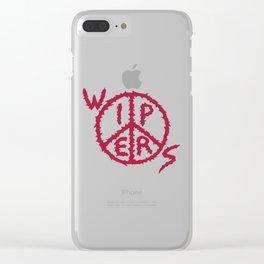 Wipers Punk Band Clear iPhone Case