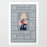 thor Art Prints featuring Thor by MacGuffin Designs