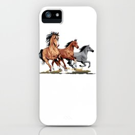 Running Horses Shirt - Gift For Horse Lovers iPhone Case