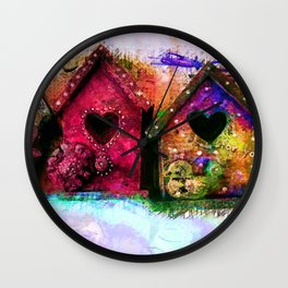 Baby Birdhouses Wall Clock