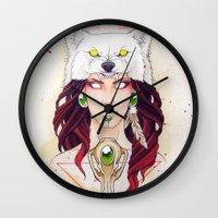 mononoke Wall Clocks featuring Mononoke by Electricalivia